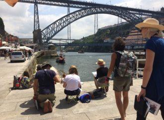 Una magentina al 9º raduno di Urban Sketchers di Porto